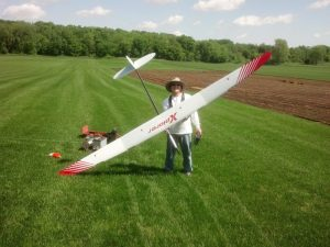 John Winstanley with his new Xplorer at the Clarksville sod farm Memorial Day